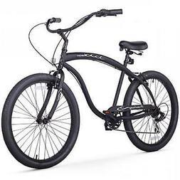 Firmstrong Bruiser Man Seven Speed Beach Cruiser Bicycle, 26