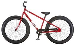 "Mongoose Men's Brutus 26"" Wheel Fat Tire Bicycle, Red, 18"" F"
