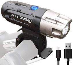 Night Provision BX-550 USB Bike Light - Front L2 LED Headlig