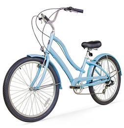 Firmstrong Women's CA-520 Alloy 7-Speed Beach Cruiser Bicycl