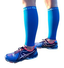 BeVisible Sports Calf Compression Sleeve Footless Leg Compre