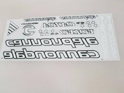 CANNONDALE vinyl decals bike stickers frame replacement set WHITE