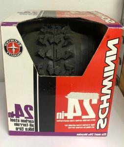 """Schwinn Carbon Steel All Terrain Bike Tire  24"""" x 1.95"""" Inch"""