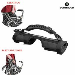 carrying handgrip bike frame shoulder strap