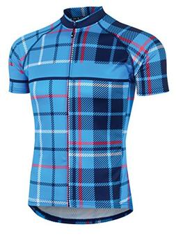 Canari Century Cycle Jersey, Tartan Cosmic Blue, Medium