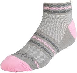 SockGuy Women's 1in Pink Chain Cycling/Running Socks