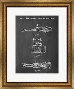 Great Art Now Chalkboard Star Wars Speeder Bike Patent by Co