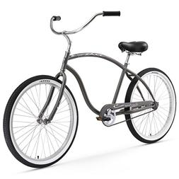 Firmstrong Chief Single Speed, Black - Men's 26 Beach Cruise