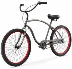 Firmstrong Chief Man Three Speed Beach Cruiser Bicycle, 26-I