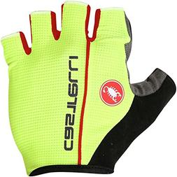 Castelli Circuito Glove - Men's Yellow Fluo/Red, XL