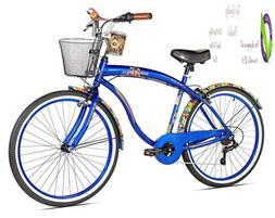 Margaritaville Coast Is Clear Men'S Beach Cruiser Bike, 26-I