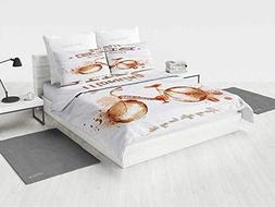 Coffee Art Bedding Sets for Girls Refreshing Morning Coffee