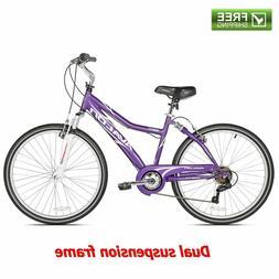 "Next Comfort Bike Women's Purple 26"" Full Suspension Cruis"