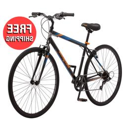 Commuter Hybrid Bike Fitness Mens Bicycle 7- Speed 700C Whee