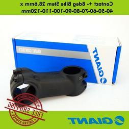 GIANT Contact +- 8deg Bike Stem 28.6mm x 40-50-60-70-80-90-1