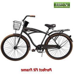 """Huffy Cruiser Bike 26"""" Men's Gray Commuter Comfort City Beac"""