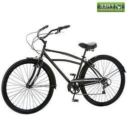 "Schwinn Cruiser Bike 29"" Black Comfort Men's Bicycle City"
