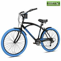 "Kent Cruiser Bike Men 26"" Black Comfort Beach City Commuter"
