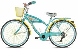 "26"" Women's Cruiser Bike Multi-Speed Bicycle 7-Speed Shimano"