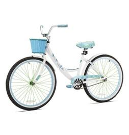 "Kent Cruiser Bike Women 26"" White Comfort Commuter City Beac"