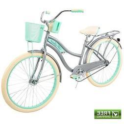 """Huffy Cruiser Bike Women's 26"""" Gray Beach City Comfort Bicyc"""