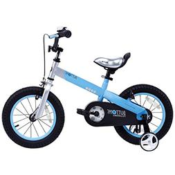 """RoyalBaby CubeTube Matte Buttons 18"""" Bicycle for Kids, Blue"""
