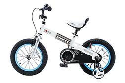 "RoyalBaby CubeTube Buttons 14""  Bicycle for Kids, Blue"
