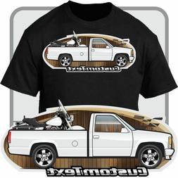Custom Art T-Shirt 1988-1998 GMC Sierra Chevy 1500 Pickup Tr
