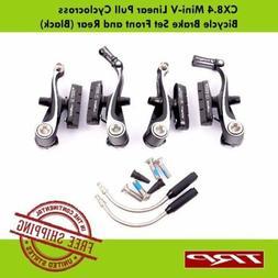 TRP CX8.4 Mini-V Linear Pull Cyclocross  Bike Brake Set - Bl