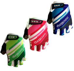 For Kids Boy Girls Bike Cycling Gloves Half Finger Breathabl