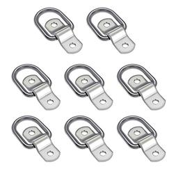 """AUDEW 8-Pack D Ring 1/4"""" Tie Down Ring Load Anchor Trailer A"""