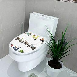 Printsonne Bathroom Toilet seat Sticker Decal Collecti Diffe