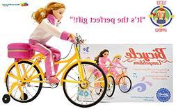 Savvy Street Kids Doll Girl Riding Bike Bundle with Cool Jum
