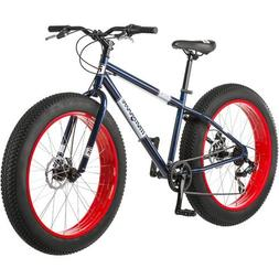 """Mongoose® Men's Dolomite 26"""" 7-Speed Fat Tire Bicycle, Blue"""