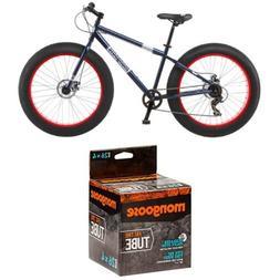 Mongoose Men's Dolomite Fat Boys Tire Cruiser Bike, Blue, 26
