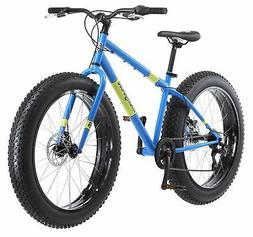 "Mongoose Men's Dolomite 26"" Wheel Fat Tire Bicycle, Blue, 18"
