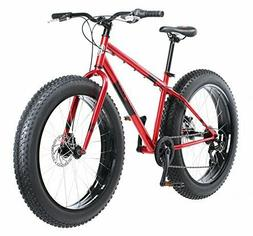 "Mongoose Men's Dolomite 26"" Wheel Fat Tire Bicycle, Red, 18"""