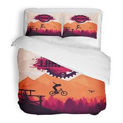 SanChic Duvet Cover Set Action Mountain Biking Downhill Free