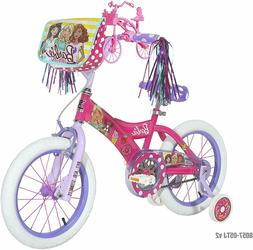 "Dynacraft Barbie Girls BMX Street Bike 16"" Pink/White/Purple"