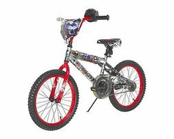 Hot Wheels Boys Dynacraft Bike with Rev' Grip, Silver/Red,
