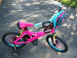 Dynacraft Girls Barbie Bike Pink/Black 18 Inch Training Whee