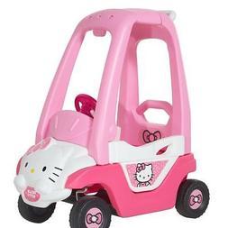 Dynacraft Hello Kitty Push N Play Car Pink Foot-powered Kids