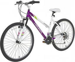 Dynacraft Ladies Bike Womens Bicycle Mountain White Purple A