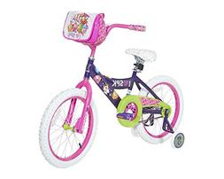 "18"" Dynacraft Shopkins Girls' Bike Steel Frame Training Whee"