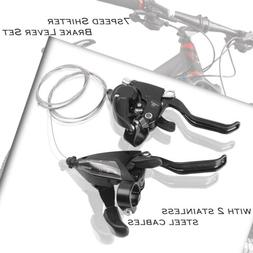 EF500-7 SHIMANO Bike Brake Shifters Set Brake /& Shift Levers 3x7S With Cables