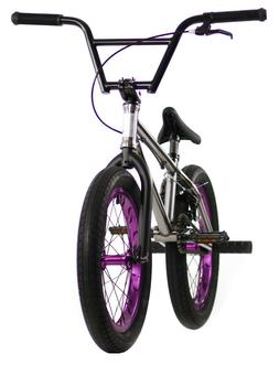 "Elite 18"" BMX Pee Wee Bicycle Freestyle Bike 1 Piece Crank R"
