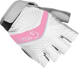 Castelli Elite Gel Glove - Women's Wht/Pink/Ocean Size L