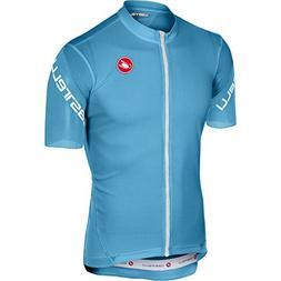 Castelli Entrata 3 Full-Zip Jersey - Men's Sky Blue, XXL