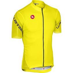 Castelli Entrata 3 Full-Zip Jersey - Men's Yellow Fluo, XL