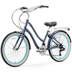 sixthreezero EVRYjourney Women's 21-Speed Step-Through Hybri